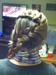 Lace braid with French braid below.