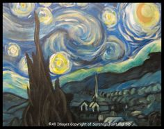 VAN GOGH'S A STARRY NIGHT at Saratoga Paint and Sip Studio