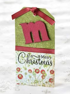 Scrapbook Christmas Gift Tags   ... Tag... I think these are ADORABLE...and made from scrapbooking