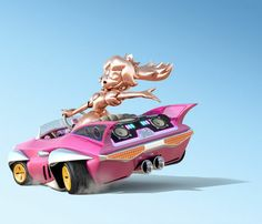 Pink gold Peach from Mario Kart 8.