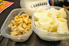 Freeze Greek yogurt and bananas in ice cube trays to make your smoothies super creamy AND healthy.