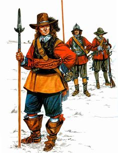 """""""The English Civil War 1642-1651: • Officer of foot , New Model Army • Pikeman, New Model Army • Musketeer, New Model Army"""", Jeffrey Burn"""