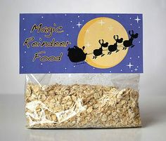 Magic Reindeer Food recipe + free printable.. i remember sprinkeling this when i was little... oh, the magic of christmas!