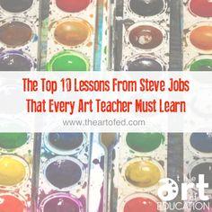 The Top 10 Lessons From Steve Jobs That Every Art Teacher Must Learn – The Art of Education University Hier sind meine Top 10 Lektionen von Steve Jobs, die jeder Kunstlehrer lernen muss High School Art, Middle School Art, Ipad Art, Steve Jobs, Art Classroom Management, Jobs In Art, Art Curriculum, Art Lesson Plans, Art Plastique