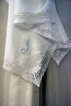 How to Make an Heirloom Lace-Edged Hanky for the Bride-to-Be http://www.craftstylish.com/item/47212/how-to-make-an-heirloom-lace-edged-hanky-for-the-bride-to-be
