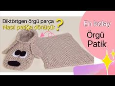 EN KOLAY ÖRGÜ EV BOTU - EASIEST KNITTING HOME SLIPPERS EVER - YouTube