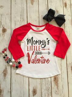 """""""Mommy's Little Valentine"""" Raglan Tee"""