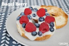 20 Easy and Healthy Breakfast Ideas - Bagel Berry Bruschetta