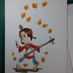 Ah, that was fun. Kubo and the Two Strings is such a beautiful movie! This pic from art of Copic Drawings, Copic Sketch, Kubo And The Two Strings, Drawing Practice, Copic Markers, Drawing Reference, Movie, Ink, Photo And Video