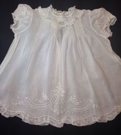 Feltman Bros Beautiful Vintage Baby Dress with Matching Slip Embr Pintuck Mint, image 1 | eBay