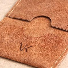 Leather credit card holder, brown credit card holder wallet, wallet for cards and bills, ID Holder, titulaire de la carte de crédit, Kreditkarteninhaber by Vank Design