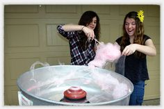 Cotton candy! What a sweet idea to make and serve it at your back-to-school event! www.jumpinjiminyinc.com
