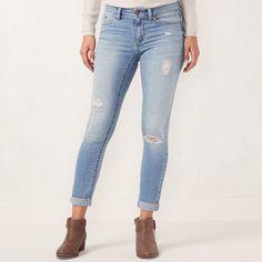 0601bb8c608f9 Women's LC Lauren Conrad Love, Lauren Cuffed Ankle Skinny Jeans #Lauren, # Conrad