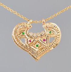 70d9470e3 Fine Jewelry Necklace , 14k Gold Necklace , Solid Gold Pendant , Antique  Style 14k Gold