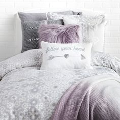 Shop Dormify for the hottest dorm room decorating ideas. You'll find stylish college products, unique room and apartment decor, and dorm bedding for all styles. Purple Dorm Rooms, Purple Bedroom Decor, Purple Bedrooms, Cool Dorm Rooms, Room Decor Bedroom, Purple Home Decor, Bedroom Neutral, Dorm Room Bedding, Bedding Master Bedroom