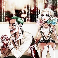 Joker and Harley Club Scene fanart O Joker, Joker And Harley Quinn, Kings & Queens, Harely Quinn, Daddys Lil Monster, Movies And Series, Batman Universe, Fanart, Gotham City