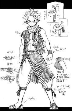Hiro Mashima, Fairy Tail, Fairy Tail Illustrations: Fantasia, Natsu Dragneel, Character Sheet