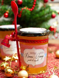 Cadeaux gourmands Archives - Page 2 of 3 - Anne-Sophie - Fashion Cooking Compote Recipe, Apple Jam, Frozen Yoghurt, Jam And Jelly, Gourmet Gifts, Christmas Breakfast, Vegetable Drinks, Cute Food, Homemade Gifts