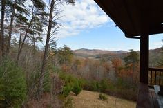 Take your first steps in the morning out on this gorgous balcony, watch and hear the wildlife and the sounds of the forrest! For more info please contact Rick Andrews 706-970-7120 or email info@bestmountaindeals.com