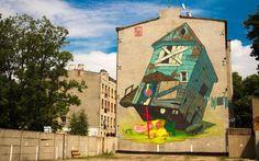 Street Art by Lodz, Poland based Graffiti artist Przemek Blejzyk.