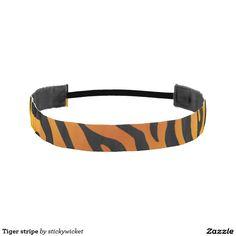 Tiger stripe athletic headbands