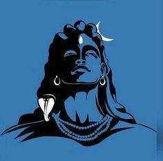 The Hindu god Shiva. Mahakal Shiva, Shiva Art, Hindu Art, Lord Shiva Painting, Ganesha Painting, Orisha, Lord Shiva Sketch, Shiv Ratri, Shiva Photos