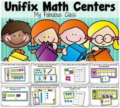 Unifix Cube Math Centers for Kindergarten. 8 differentiated centers that can be used all year. Work on number sense, addition and subtraction, sums of 5, sums of 10, comparing quantities and comparing numerals, and MORE!