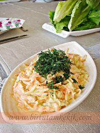 Coleslaw with practical sauce Practical home cooking Thai Beef Salad, Avocado Chicken Salad, Avocado Dessert, Avocado Recipes, Salad Recipes, Healthy Recipes, Appetizer Salads, Appetizer Recipes, Appetizers