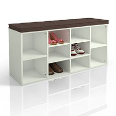 details zu vicco schuhschrank schuhbank schrank regal 10 paar schuhe auflage sitzbank weiss. Black Bedroom Furniture Sets. Home Design Ideas