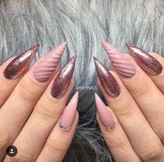 Mauve textured stilettos