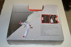 SP-33000k LVLP, Gravity feed spray gun kit, low volume low pressure, with plastic travel case