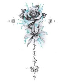 Perfectly Imperfect Rose, Lily Unalome - My best tattoo list Spine Tattoos For Women, Cool Arm Tattoos, Dope Tattoos, Badass Tattoos, Pretty Tattoos, Beautiful Tattoos, Body Art Tattoos, Small Tattoos, Sleeve Tattoos