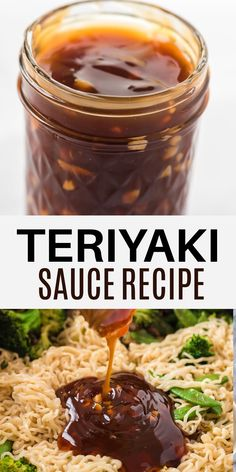 Teriyaki Rice, Teriyaki Marinade, Easy Teriyaki Sauce Recipe, Vegan Dinner Recipes, Vegan Meals, Healthy Recipes, Japanese Sauce, Sauce For Rice, Homemade Sauce