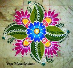 My Kolam: Floral pattern
