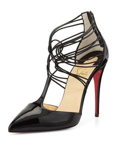 Christian Louboutin  Confusa Patent Leather Red Sole Pump, Black
