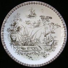 Aesthetic Era Cookie Plate ~ CAIRO 1883 from aesthetictransferware on Ruby Lane