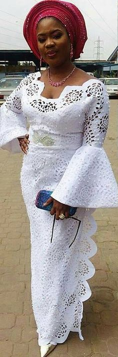 Hello Gorgeous, We are a sucker when it comes to fashion, and we do not shy away from beautiful Aso Ebi outfits. The revamped Aso Ebi outfits have come to give us a run for our money and we are no… African Lace Styles, African Lace Dresses, African Dresses For Women, African Attire, African Wear, African Women, Nigerian Lace Styles, Ankara Styles For Women, African Fashion Ankara