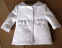 cf5935639f BIMARO Baby Mädchen Mantel Lea weiß Taufmantel Babymantel Jacke Baby  Hochzeit Taufe festlich – Bild 2