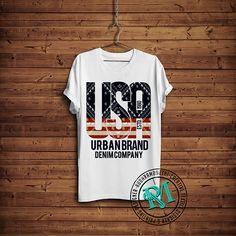 USA FLAG - MENS T SHIRTS on Behance Cool Shirt Designs, New T Shirt Design, Boys T Shirts, Tee Shirts, Addidas Shirts, Nike Running Shirt, Denim Company, Usa Flag, Graphic Tees