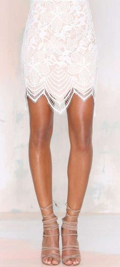 For Love and Lemons Guava Lace Skirt
