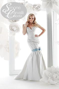 Simone Carvalli fall 2011 wedding gown, style #90053 #oneshoulder #mermaid