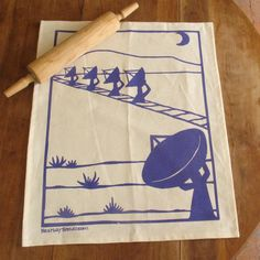 """""""Very Large Array"""" tea towel, $20 from Kei and Molly"""
