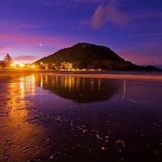 My home-New Zealand, Aotearoa maori call it the Land of the long white cloud and this is Mauao Mount Maunganui...love my home