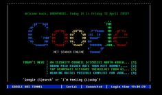 What would Google look like if it was invented in the '80s? It might go a little like this...  This is actually what the program I use at work looks like so yes I could picture this