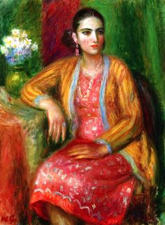 Luisa in a Pink Dress / William James Glackens