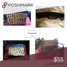 Leopard Mohair Faux Leather Shoulder Bag EUC. Barely used. Still great shape like new condition. Size: coming soon. Big Buddha Bags Shoulder Bags