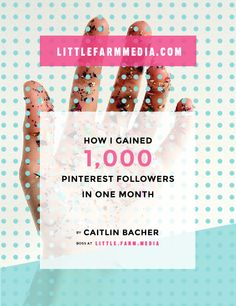 Learn how to get relevant followers fast on Pinterest for your small business. How I Gained 1,000 Pinterest Followers In One Month - Written By @littlefarmmedia - Download this FREE ebook right now!