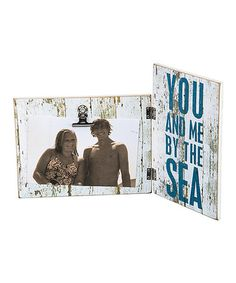 Look what I found on #zulily! 'By the Sea' Hinged Sign & Picture Clip #zulilyfinds