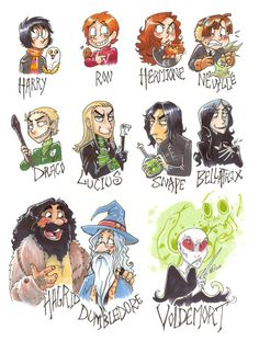 Harry Potter - #drawing #cartoon #ilustration