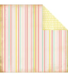 """Baby Girl Stripes - Baby Mine Girl Double-sided Cardstock 12""""x12"""""""
